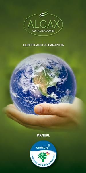 Certificado de Garantia e Manual Catalisador